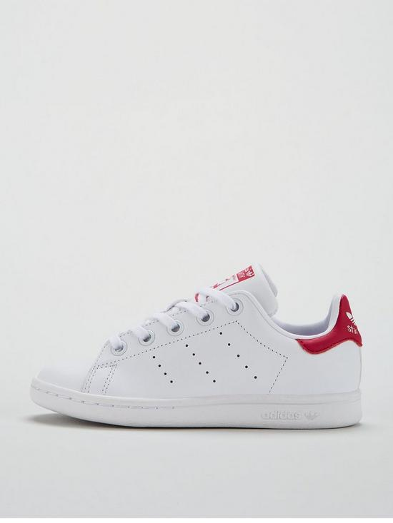 cheap for discount 54344 410c3 ... adidas Originals Stan Smith Childrens Trainer - White Red. 2 people  have looked at this in the last couple of hrs.