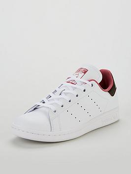 adidas-originals-stan-smith-junior-trainer-whiteburgundynbsp