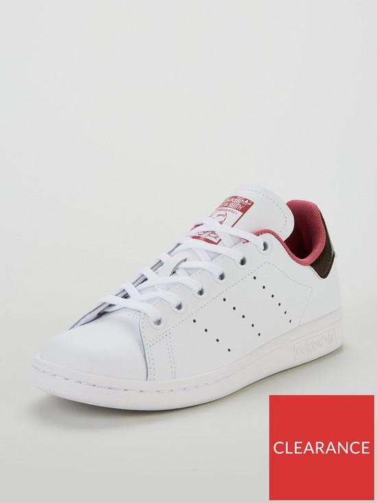 adidas Originals Stan Smith Junior Trainer - White Burgundy  067869850