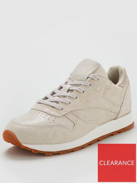 Reebok Classic Leather Exotics - Off White  2dbc073bd