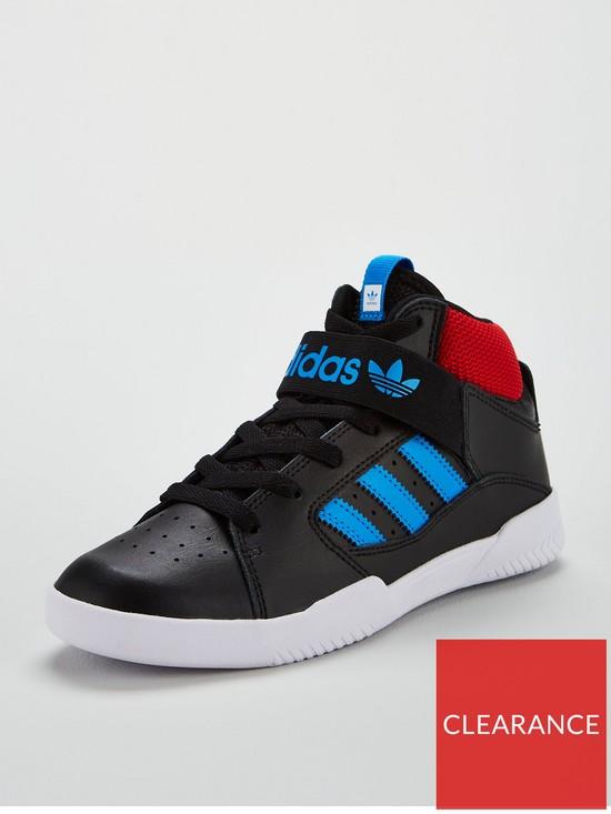 0fab743cb28f adidas Originals VRX Mid Childrens Trainer - Black Blue Red