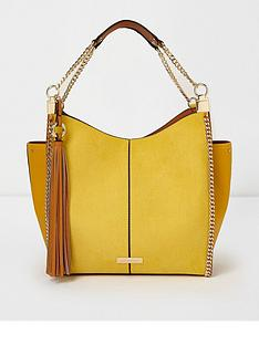 river-island-chain-side-slouch-bag-yellow
