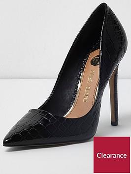 river-island-croc-court-shoe-black