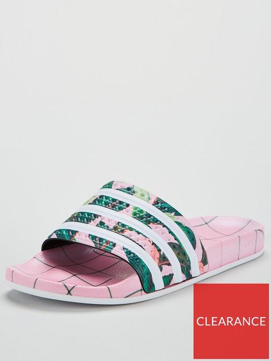 1979c7ee054d adidas Originals Adilette Slider - White Pink