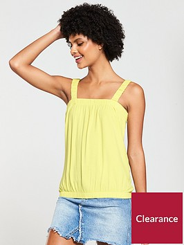 v-by-very-bubble-hem-vest-top-yellow