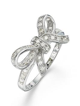 love-diamond-9-carat-17-point-diamond-bow-ring