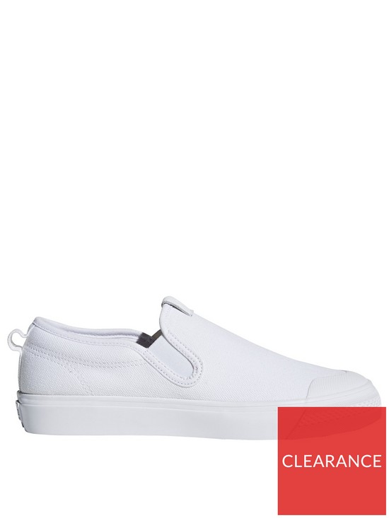 b37abc30fd7 adidas Originals Nizza Slip On - White