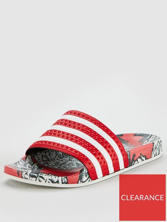 c790084bb adidas Originals Adilette Slider - Red White