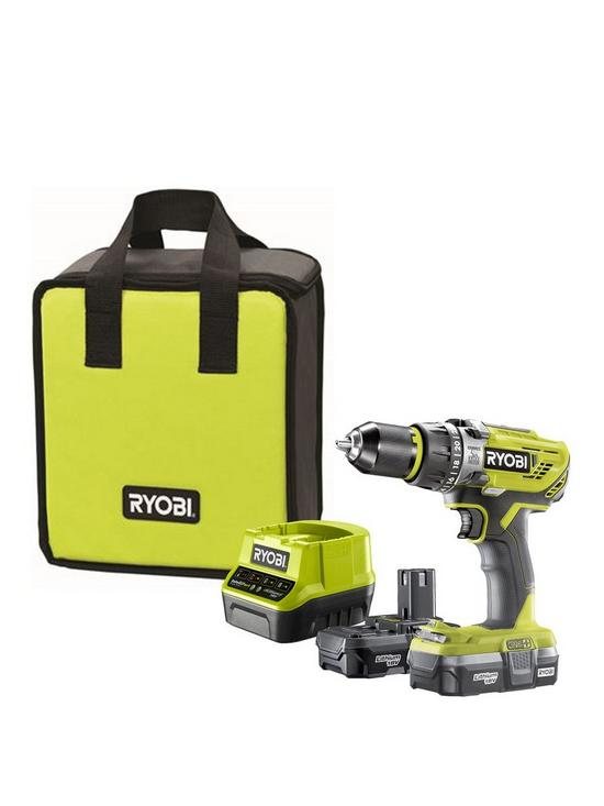 R18PD31-213S 18V ONE+ Cordless Compact Combi Drill Starter Kit (2 x 1 3Ah)
