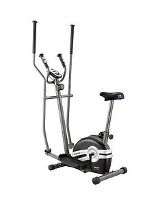 Body Sculpture Magnetic 2 in 1 Elliptical Cross Trainer And Exercise Bike With Hand Pulse
