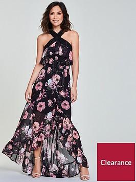 myleene-klass-ladder-trim-maxi-dress-black