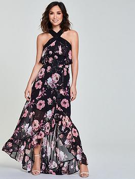 Myleene Klass Ladder Trim Maxi Dress - Black