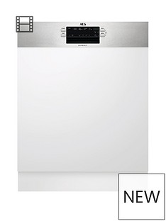 AEG FEB52600ZM Semi-Integrated 13-Place Full Size Dishwasher Best Price, Cheapest Prices