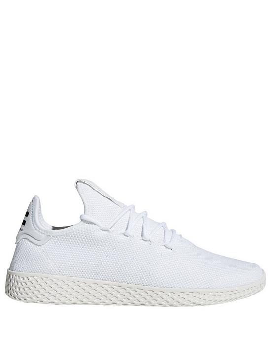 352ff5ab63 adidas Originals x Pharrell Williams Tennis HU Trainers - White ...