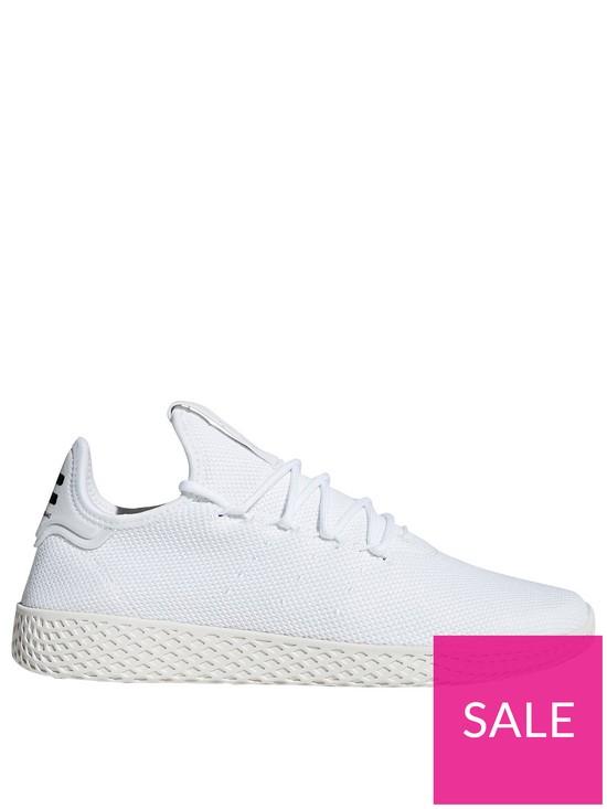 d3e33a1f5 adidas Originals x Pharrell Williams Tennis HU Trainers - White ...