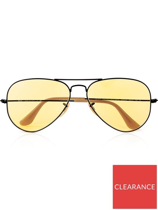 3fff3fcf10 RAY-BAN Aviator Metal Frame Sunglasses - Yellow