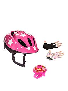 Sport Direct Sport Direct Pink Kids Bicycle Safety Set