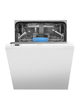 Indesit Difp8T96Zuk 14-Place Full Size Integrated Dishwasher With Quick Wash, Baby Care And Optional Installation - White - Dishwasher With Installation