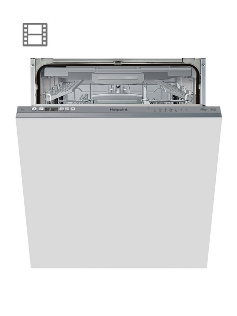 hotpoint-hic3c33cweuknbsp14-place-full-size-integrated-dishwasher-with-quick-wash-3d-zone-wash-silver