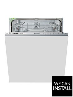 hotpoint-hio3t1239weuknbsp14-placenbspfull-size-integrated-dishwasher-with-quick-wash-3d-zone-wash-super-silent-and-optional-installation-stainless-steel