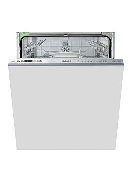 Hotpoint Hio3T1239Weuk 14-Place Full Size Integrated Dishwasher With Quick Wash, 3D Zone Wash, Super Silent - Stainless Steel - Dishwasher Only Best Price, Cheapest Prices