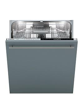 Hotpoint Hip4O22Wgtceuk 14-Place Full Size Integrated Dishwasher With Quick Wash, 3D Zone Wash And Optional Installation - Silver - Dishwasher With Installation