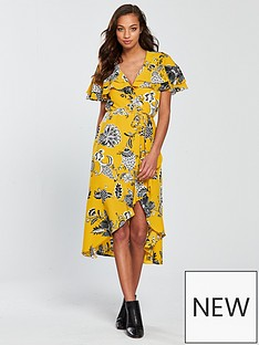 river-island-floral-wrap-dress-yellownbsp