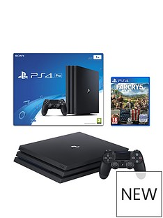 playstation-4-pro-jet-black-console-with-far-cry-5-and-extra-dualshock