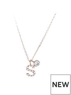 accessorize-rose-gold-diamante-initialnbsppendant-s-necklace