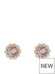 accessorize-rose-gold-flower-stud-earrings-pink