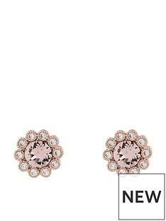 accessorize-rose-gold-flower-stud-earringsnbsp--pink