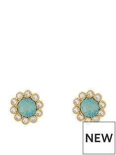 accessorize-flower-stud-earrings-green