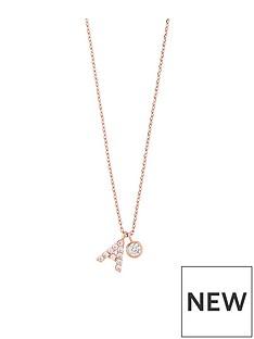 accessorize-rose-gold-diamante-inital-pendant-a
