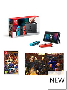 nintendo-switch-neon-red-neon-blue-console-with-sonic-forces