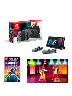 nintendo-switch-grey-console-with-just-dance-2018