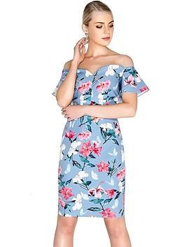 paper-dolls-pretty-floral-fluted-bardot-dress