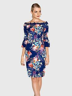 paper-dolls-floral-tulip-bardot-flute-sleeve-dress
