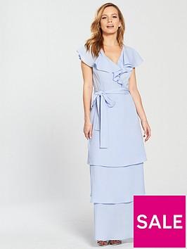 lost-ink-petite-ruffle-neck-tiered-maxi-dress-light-blue