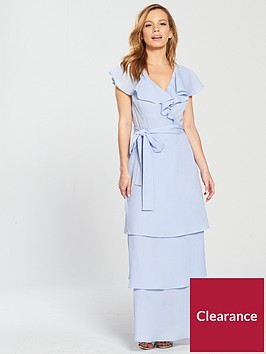 lost-ink-petite-ruffle-neck-tiered-maxi-dress-light-blue