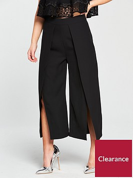 lost-ink-lost-ink-petite-cropped-split-front-wide-leg-trouser