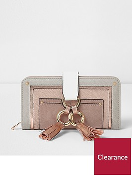 river-island-hoop-front-zip-around-purse-pink