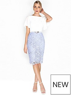 paper-dolls-paper-dolls-chiffon-sleeve-detail-crochet-2-in-1-dress