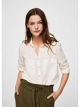 mango-wooden-button-blouse-off-white