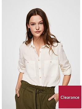 mango-wooden-button-blouse-off-white