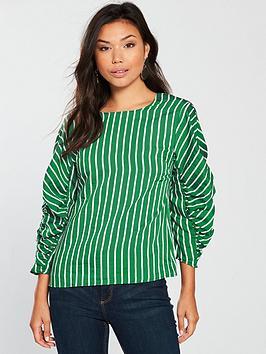 mango-rayanbspstriped-blouse-greennbsp