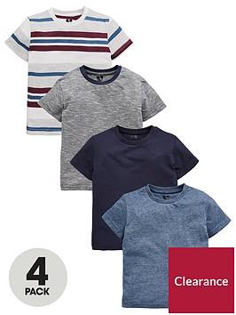 mini-v-by-very-boys-4-pack-stripe-and-blue-t-shirt-multi
