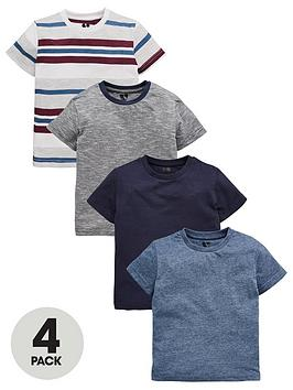 mini-v-by-very-boys-4-pack-stripe-and-blue-tees