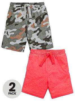 mini-v-by-very-boys-2-pack-print-and-plain-jersey-shorts