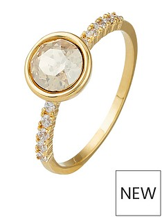 accessorize-simple-paveacute-ring-gold-tone