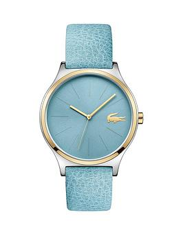 lacoste-nikita-blue-dial-blue-leather-strap-ladies-watch